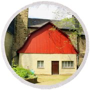 Outbuilding. Germany Round Beach Towel