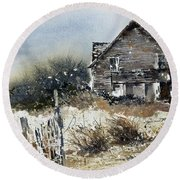 Outer Banks Shack Round Beach Towel