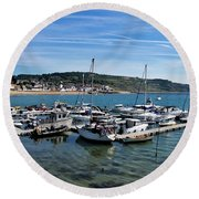 Outer Harbour - Lyme Regis Round Beach Towel
