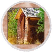Outhouse 1 Round Beach Towel
