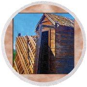 Outhouse 2 Round Beach Towel