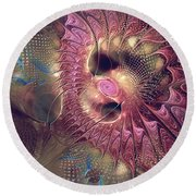 Outlandish With Feeling Round Beach Towel