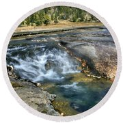 Outlet Firehole Lake Round Beach Towel