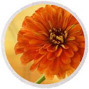 Outrageous Orange Round Beach Towel
