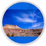 Outside Lyons Colorado Round Beach Towel