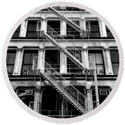 Outside Stairs Round Beach Towel