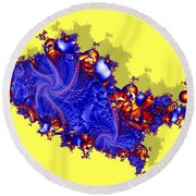 Outside The Fractal Round Beach Towel