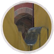 Outside The Walls Round Beach Towel