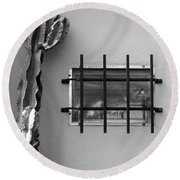 Outsiders - Cactus By The Window Round Beach Towel