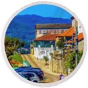 Outskirts Of Valenca Round Beach Towel