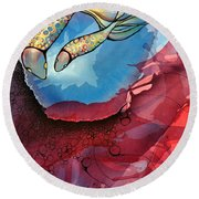 Outwards Inwards Round Beach Towel