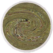 Oval Abstract Panel 6150-5 Round Beach Towel