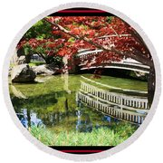 Over Springtime Pond Round Beach Towel