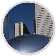 Over The Bean Round Beach Towel