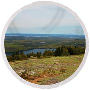 Over The Horizon Round Beach Towel