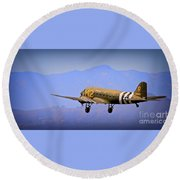 Over The Hump Round Beach Towel