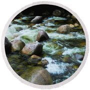 Over The Boulders - Mossman Gorge, Far North Queensland, Australia Round Beach Towel