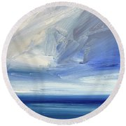 Over The Shore Round Beach Towel