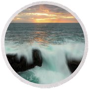 Over The Top Round Beach Towel