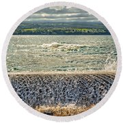 Over The Wall Round Beach Towel
