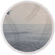 Over There Round Beach Towel