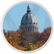 Over The Tree Tops Round Beach Towel