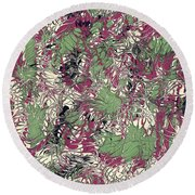 Overactive Christmas Celebration - V1cp100 Round Beach Towel