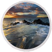Overflow Round Beach Towel