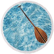 Overhead View Of Paddle Round Beach Towel