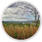 Overlook At Talking Rock Creek Round Beach Towel