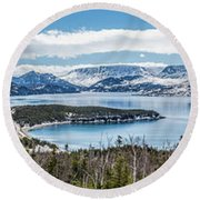 Overlooking Norris Point, Nl Round Beach Towel