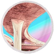 Overpass Two Round Beach Towel