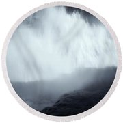 Overshadowed By Nature Round Beach Towel