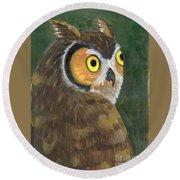 Owl 2009 Round Beach Towel