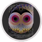 Owl Abstract Round Beach Towel