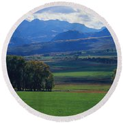 Owl Pass Uncompahgre National Forest Co Round Beach Towel