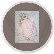 owl Round Beach Towel