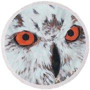 Owlish Eyes Round Beach Towel