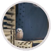 Owls And Trestles Round Beach Towel