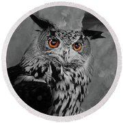 Owls Eye Round Beach Towel