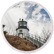 Owl's Head Lighthouse 4761 Round Beach Towel