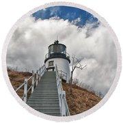 Owl's Head Lighthouse 4764 Round Beach Towel
