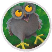 Owlvin Round Beach Towel