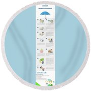 Own Specialty Disability Insurance Physicians Round Beach Towel