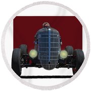 Owner Designed And Built Race Car Round Beach Towel