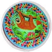 Oxcart 7 Round Beach Towel