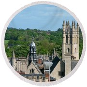 Oxford Tower View Round Beach Towel