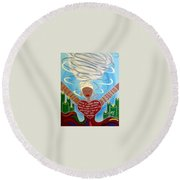 Oya Round Beach Towel