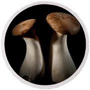 Oyster Mushrooms Round Beach Towel