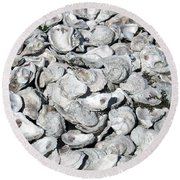 Oyster Shells On Cumberland Island Round Beach Towel